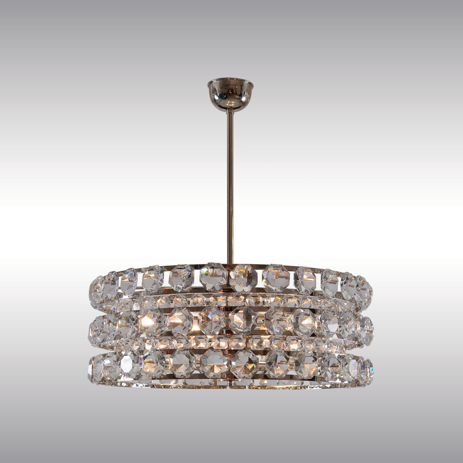 Image of: Woka Lamps Vienna 21727 Mid Century Modern Crystal Chandelier