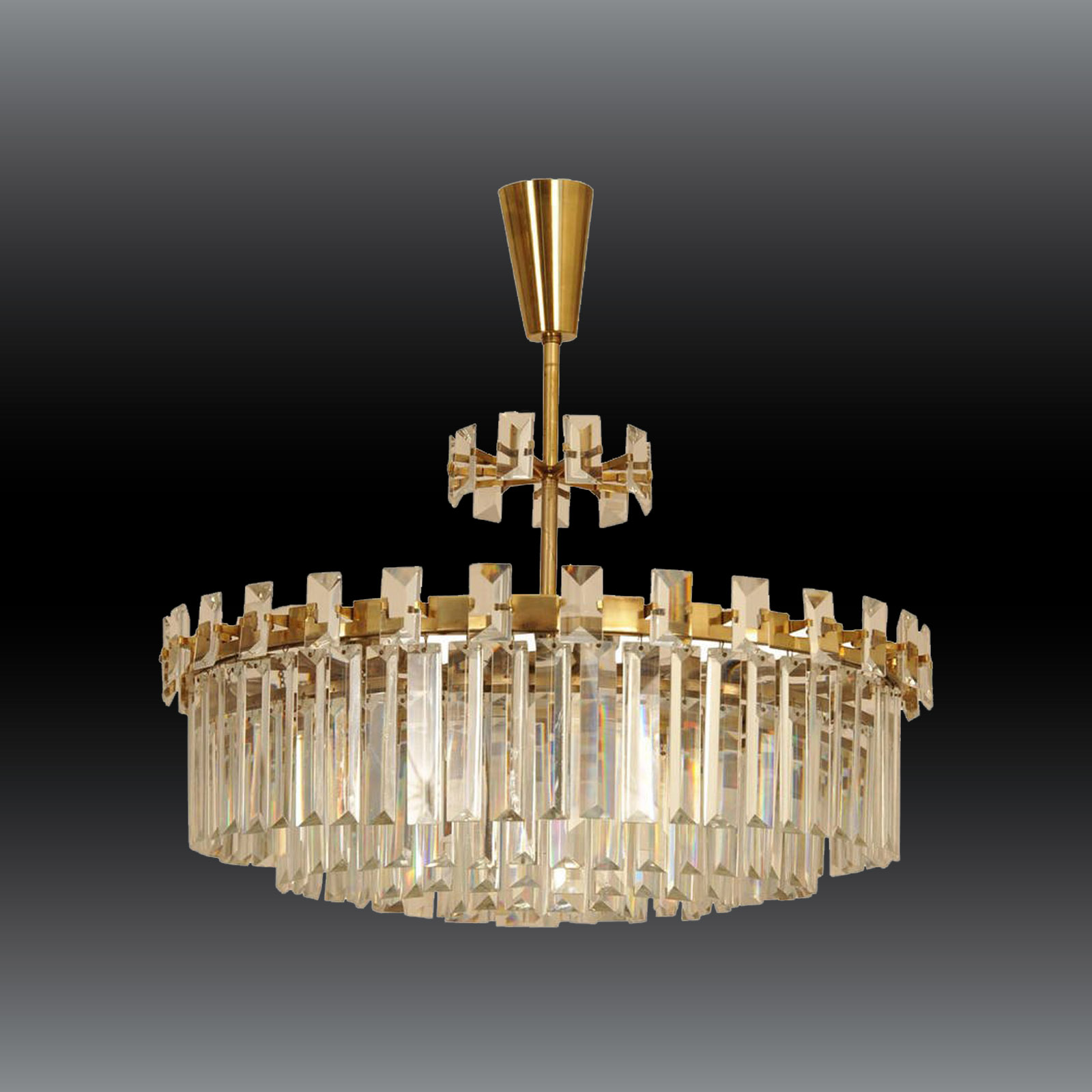 Image of: Woka Lamps Vienna 60056 Mid Century Modern Crystal Chandelier